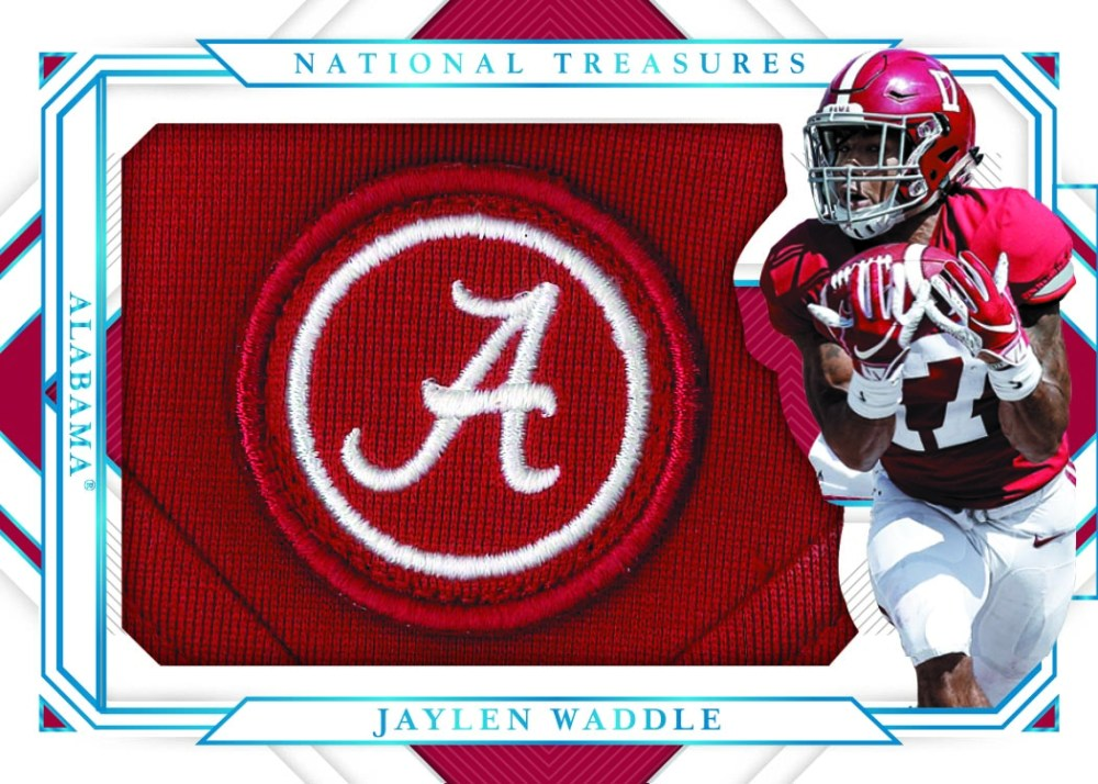 example of college football player trading card from Panini