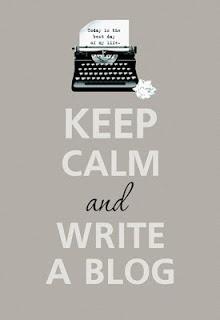 Keep Calm and Write a Blog image