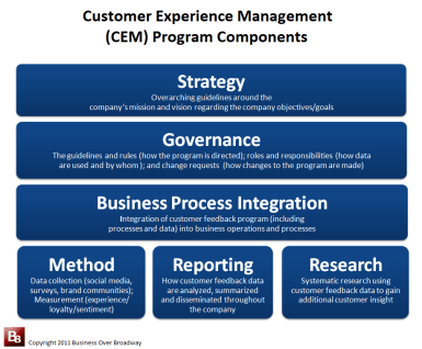 Customer Experience Management Program Components