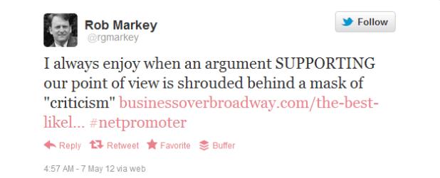 Rob Markey' Tweet
