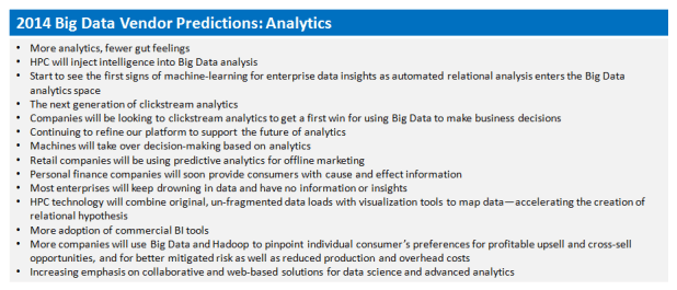 analytic-predictions