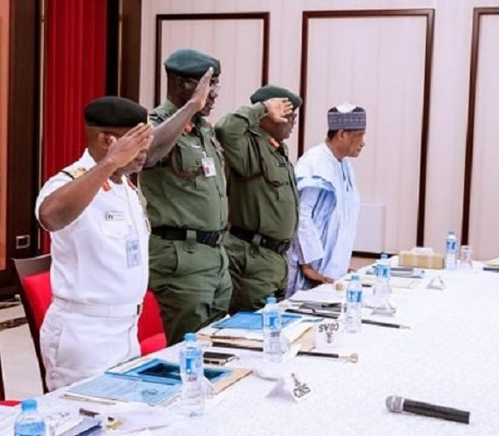 buhari security chiefs