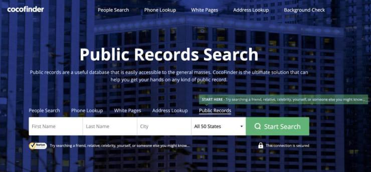 Cocofinder public records