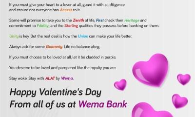 Wema Bank Val's Day Banter
