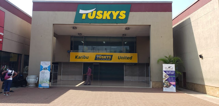Tuskys Supermarket located at United Mall in Kisumu
