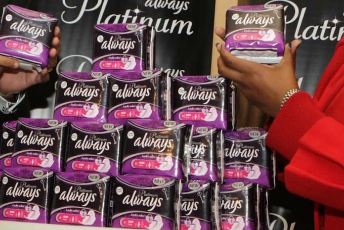 Always products. According to Water Aid International, one out of two girls in Kenya drop out of school due to a lack of period products. Kenya's Ministry of Education has cited this as an average of four school days every month. [Photo/ The Standard]