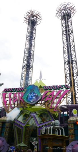 visiting universal orlando: islands of adventure Doctor Doom's Fearfall