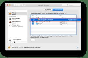 Mac Startup Programs