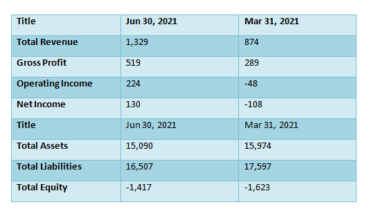 Hilton Holdings Financial report