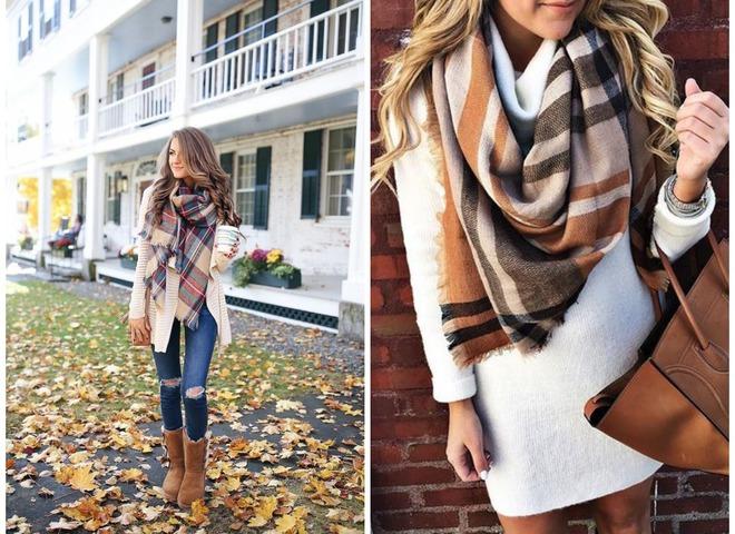 15 модних способів носити шарф восени