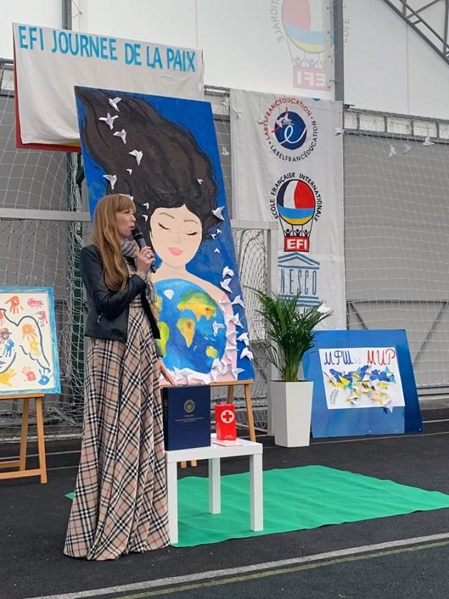 Ганна Крисюк з мотивуючою промовою виступила для школярів