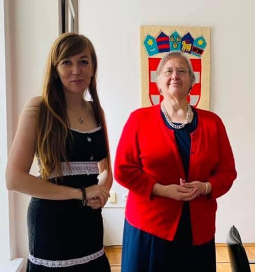Робоча зустріч президентки Business Woman Club Ганни Крисюк з Послом Хорватії в Україні Аніцою Джаймич