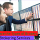 What are the types of brokers, business broker, discount broker and Brokering Services