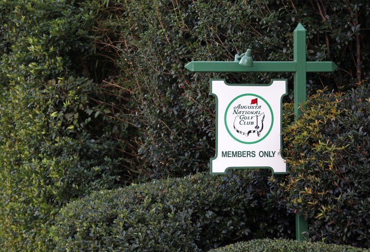 AUGUSTA, GA - OCTOBER 16: An entrance to the Augusta National Golf Club in Augusta, Georgia on October 16, 2020. The Augusta National Golf Club is home to the annual Masters PGA golf tournament.