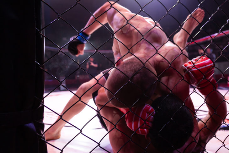 mma fighters ground and pound