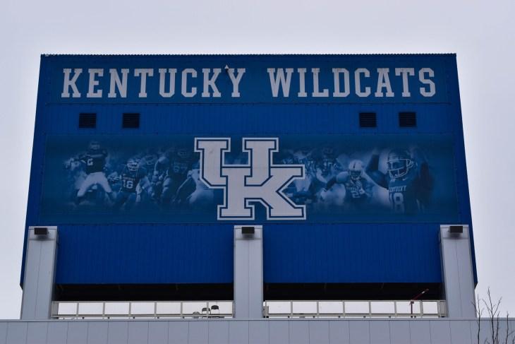 LEXINGTON, KENTUCKY, U.S.A., FEBRUARY 2017. University of Kentucky Wildcats Football sign at Commonwealth Stadium in Lexington, Kentucky, on February 2017. Editorial use only.