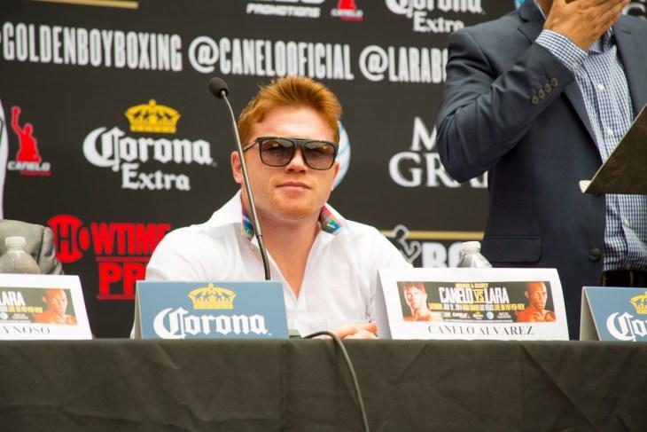 San Antonio, Texas/United States - May 7, 2014: Canelo Alvarez-Erislandy Lara Press Conference for their fight in Las Vegas. Here Canelo Alvarez.