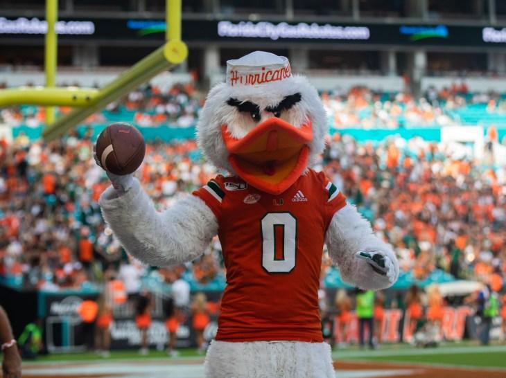 miami football mascot hurricanes