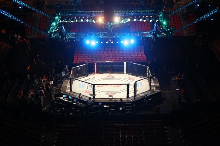 Fortaleza, Ceará, Brazil, march 11, 2017. UFC Fight Night: Belfort vs. Gastelum. Octagon, stadium gym.