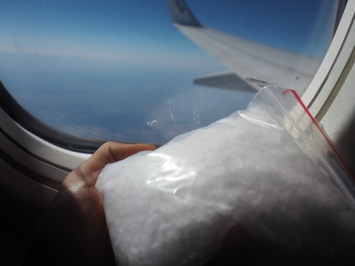 Drug smuggling in the airplane.