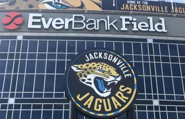 JACKSONVILLE, FL-NOVEMBER 11, 2016: EverBank professional sports stadium and home field for the Jacksonville Jaguars.