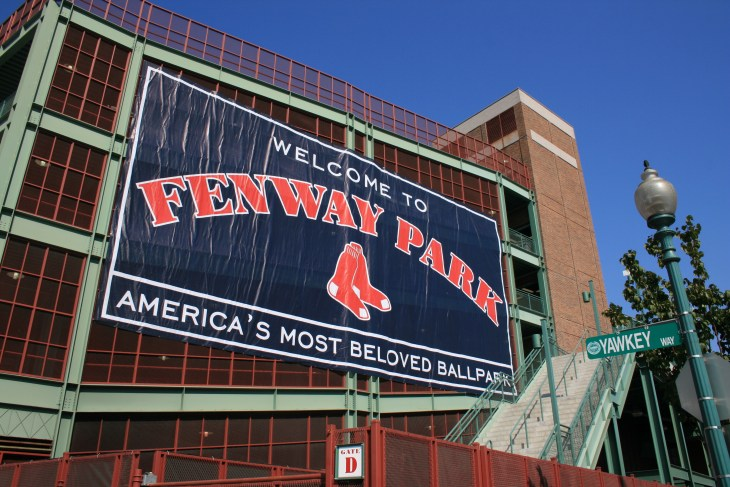 boston red sox - Outside of Boston's Fenway Park.