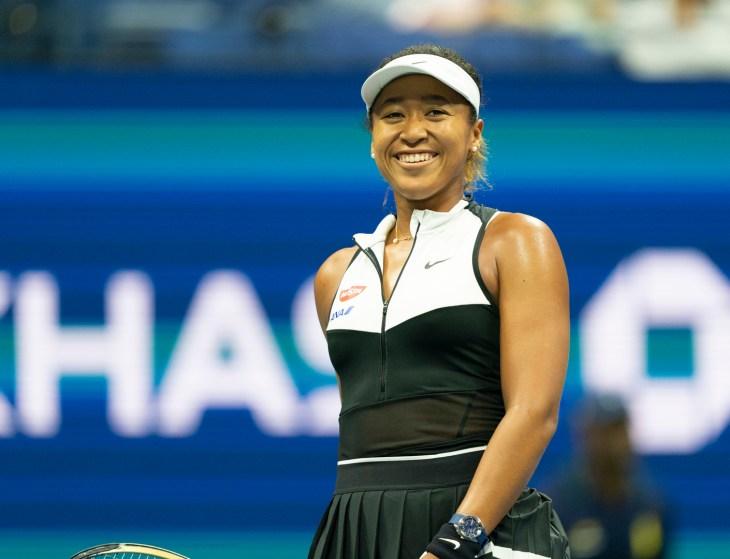New York, NY - September 2, 2019: Naomi Osaka (Japan) reacts during round 4 of US Open Championship against Belinda Bencic (Switzerland) at Billie Jean King National Tennis Center