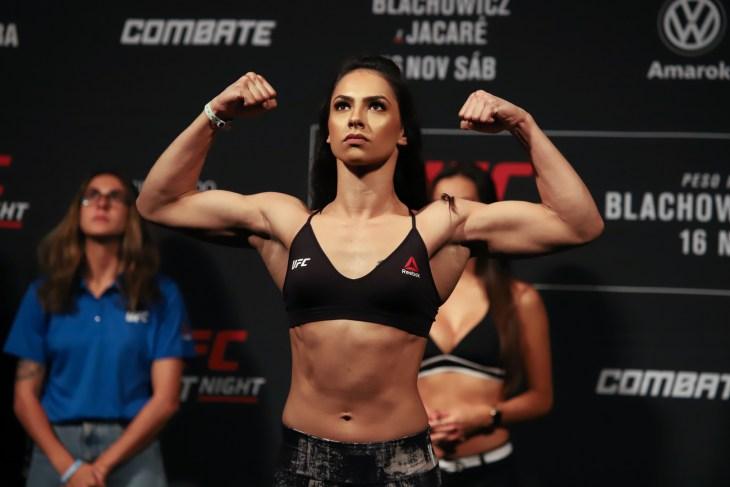 São Paulo, São Paulo, Brazil, November 16, 2019. UFC Fight Night - Jan Blachowicz x Ronaldo Jacaré. Ariane Lipski x Veronica Macedo