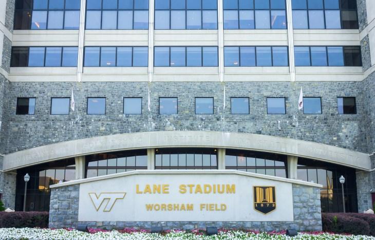 BLACKSBURG, VIRGINIA, USA - AUGUST 29: Lane Stadium / Worsham Field at Virginia Tech August 29, 2012 in Blacksburg, Virginia, USA. Football stadium for the Virginia Tech Hokies.