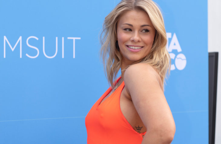 Model and MMA Artist Paige VanZant poses at the red carpet during the launch of the 2019 the Magazine Sports Illustrated Swimsuit Edition at the Ice Palace in Miami on May 10th, 2019