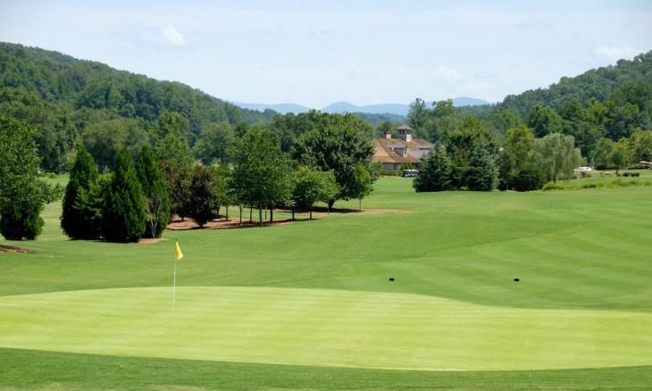 Scenic golf course north Georgia Usa