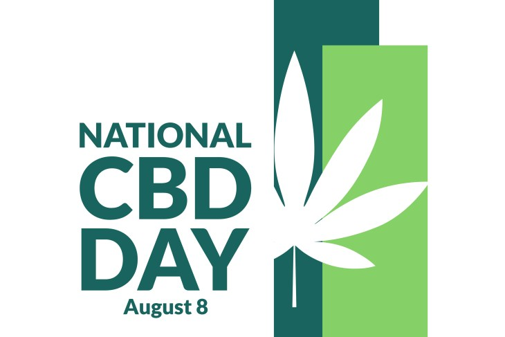 National CBD Day. August 8. Holiday concept. Template for background, banner, card, poster with text inscription. Vector EPS10 illustration