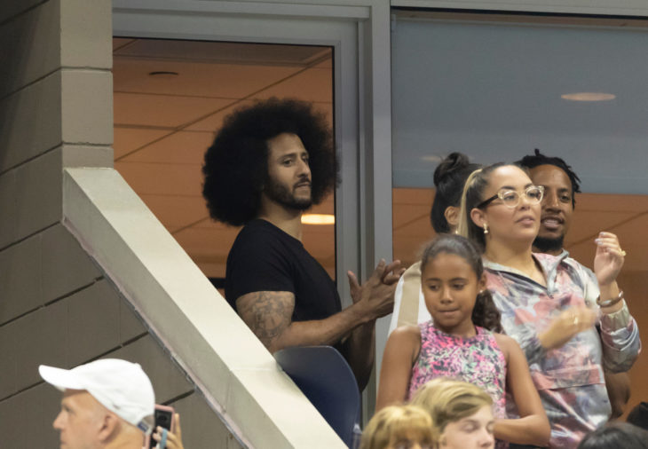 New York, NY - August 31, 2018: Colin Kaepernick attends US Open 2018 3rd round match between Serena Williams & Venus Williams of USA at USTA Billie Jean King National Tennis Center