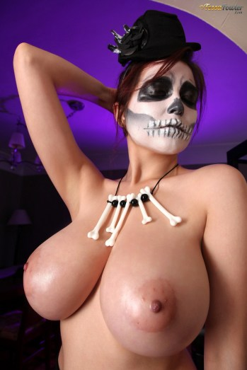 tessa fowler voodoo boobs halloween busty big natural tits