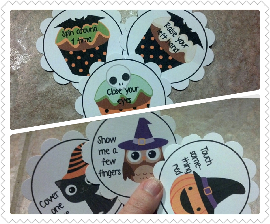 to play the following directions game turn all the cards face down on their turn each student chooses a card or 2 or 3 cards for multi step and - Halloween Following Directions