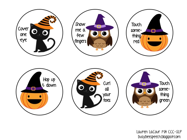 the first thing you need to do is print and cut out all the halloween circles you could also use a 25 inch circle cut to speed up the process - Halloween Following Directions
