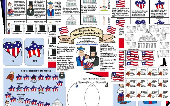 President's Day Speech & Language Pack
