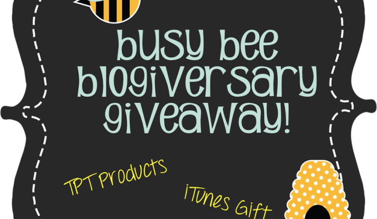 Final Blogiverary Giveaway!