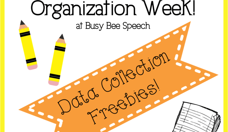 Organization Week Day 3: Data Collection Freebies!