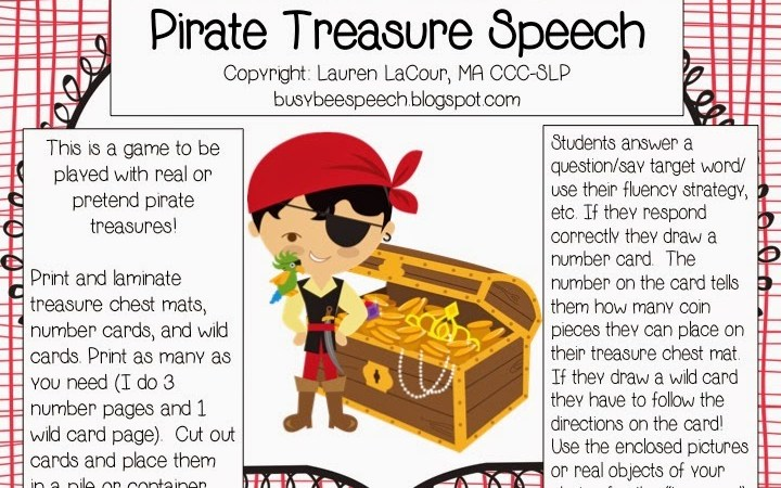 Pirate Treasure Speech ~ FREEBIE