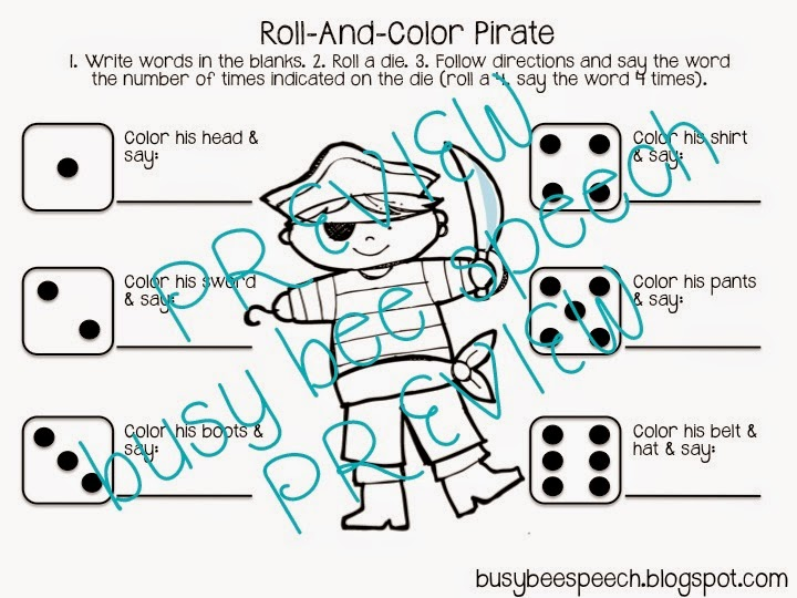 Themed Therapy Worksheet Combo - Busy Bee Speech