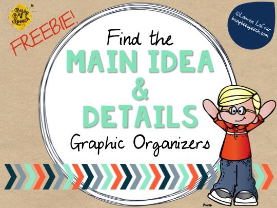 Help Me Find the Main Idea {FREEBIE}