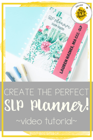 Planner - Create the perfect SLP planner