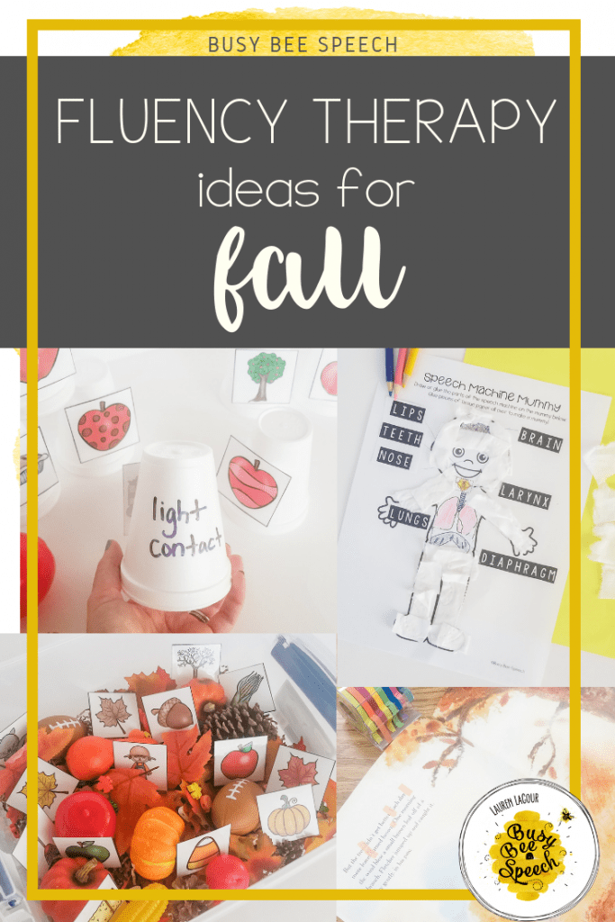 Fun fluency activities for fall!  Lots of fall activities for your speech room.