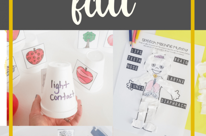 Fluency Therapy Activities for Fall
