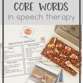 how to target core words in speech therapy