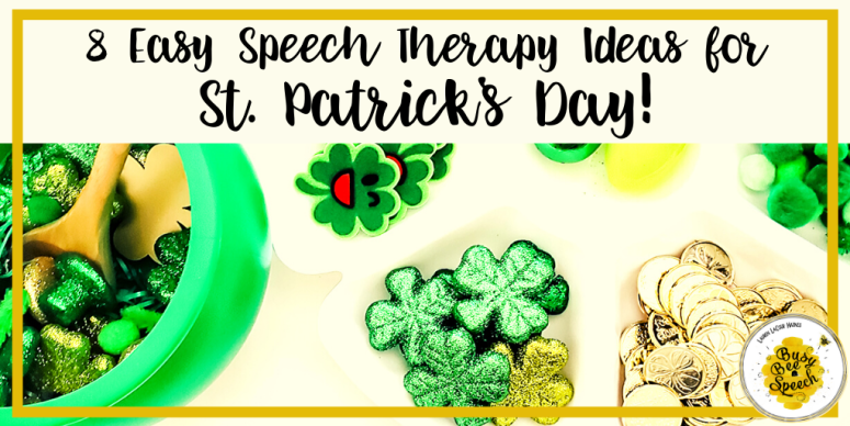 St. Patrick's Day speech therapy ideas