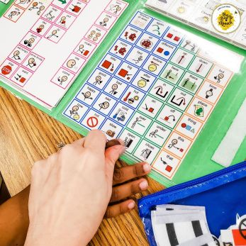 teaching core words in speech therapy