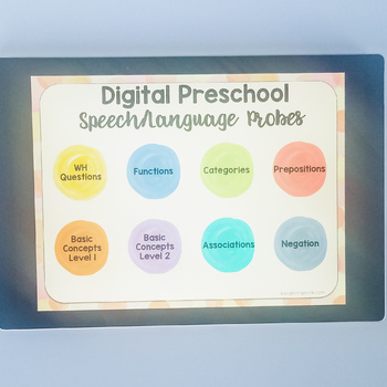 digital preschool speech language probes