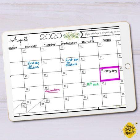 SLP paperwork tips digital planner